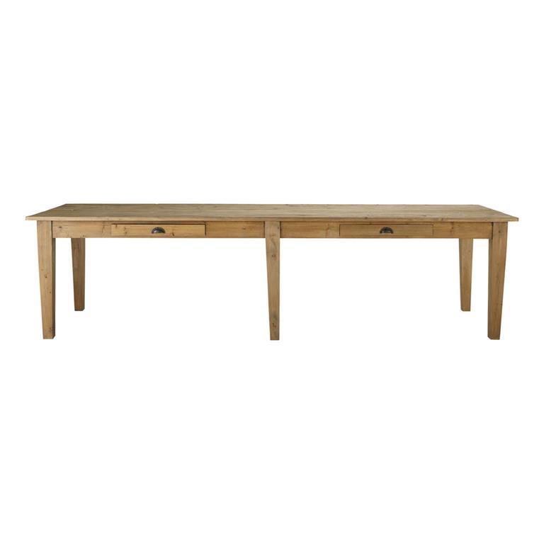 Table à manger en pin 12 personnes L300 Pagnol