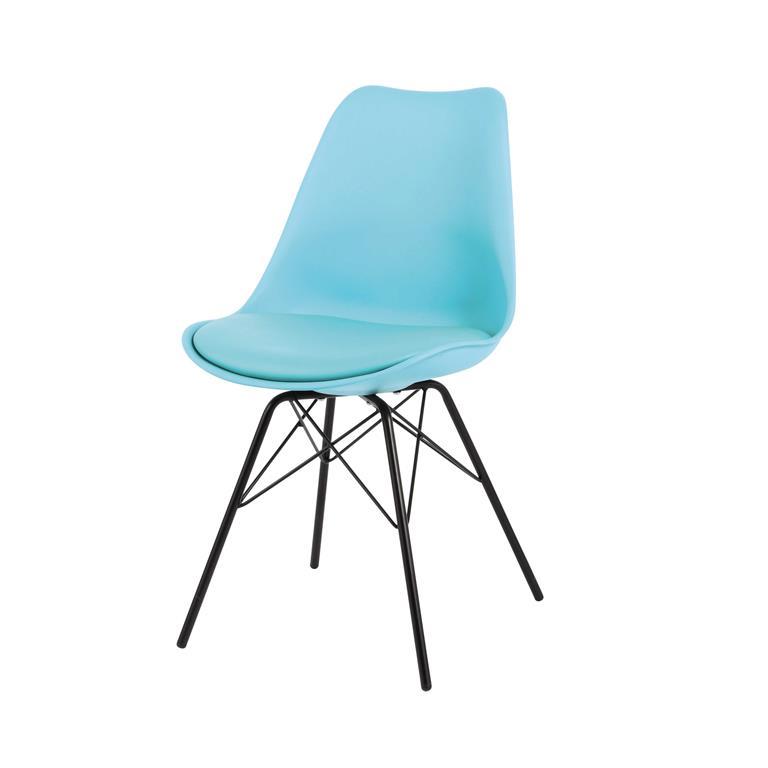Chaise en polypropylène et métal bleue Coventry