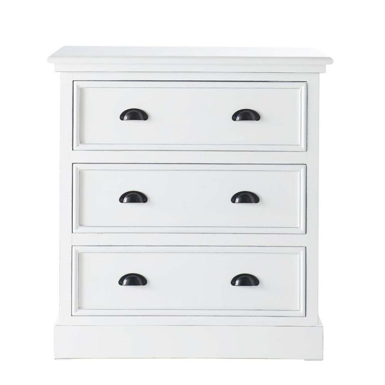 Commode en pin blanc L 80 cm Newport
