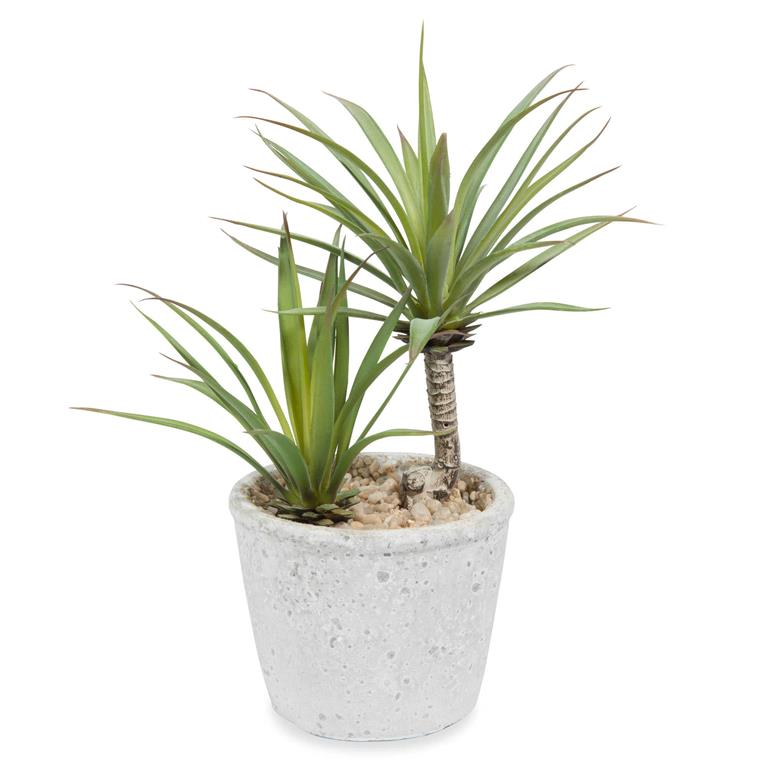 Yucca artificiel en pot H 24 cm