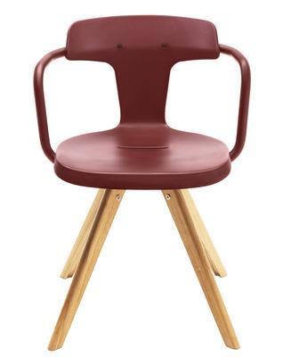 Chaise T14 / Métal & pieds bois - Intérieur - Tolix bois naturel