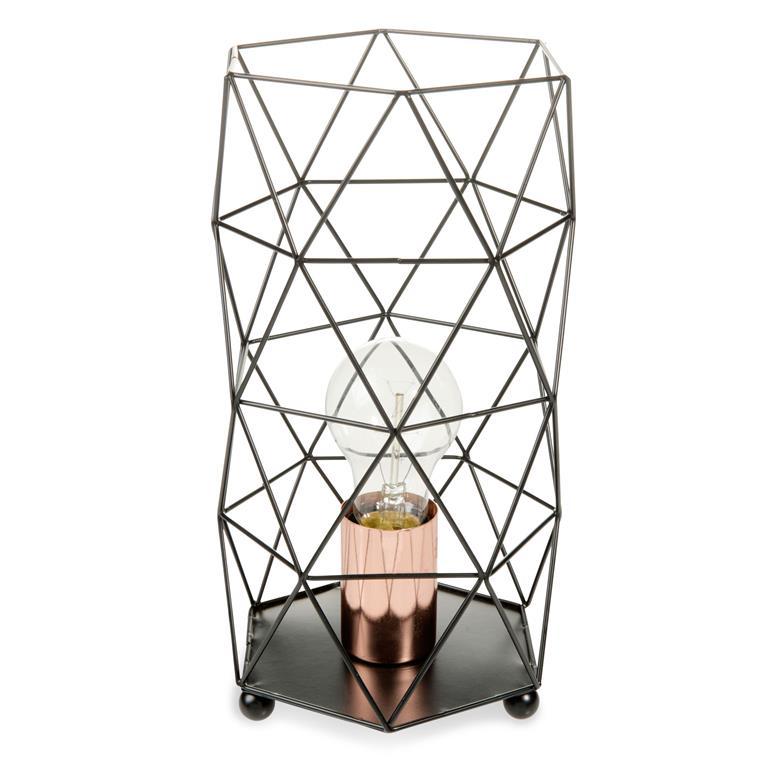 Lampe filaire en métal noir H 29 cm TRENDY BLACK