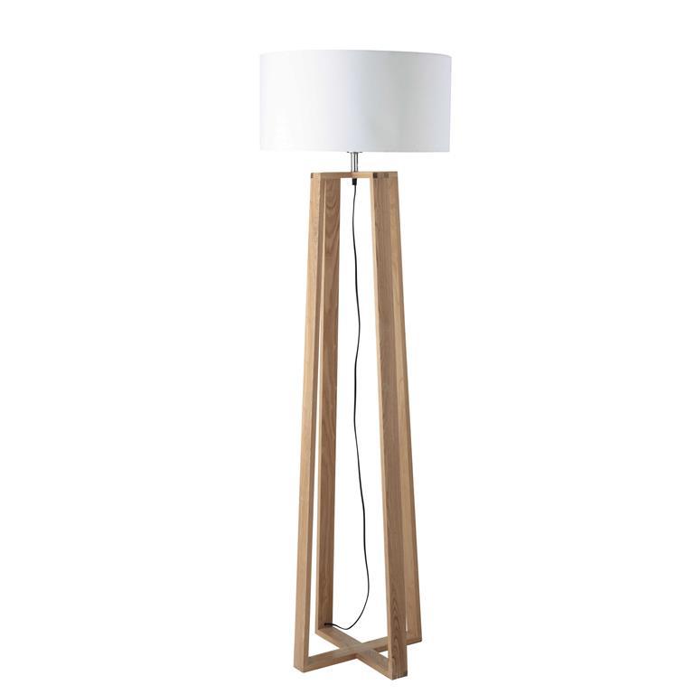 Lampadaire en bois et coton H 160 cm ICEBERG