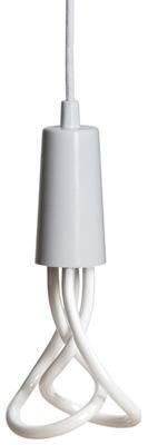 Suspension Drop Cap / Sans ampoule - Plumen blanc en tissu