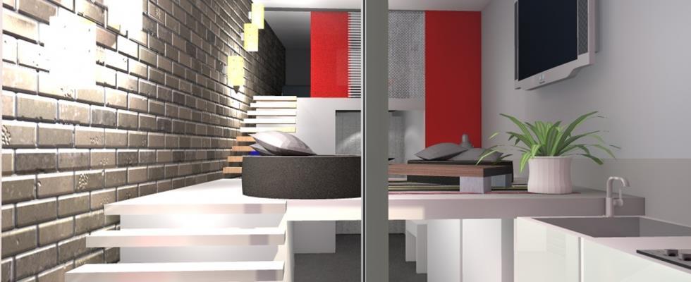 salon tv et cuisine en sous sol agence mathilde design. Black Bedroom Furniture Sets. Home Design Ideas