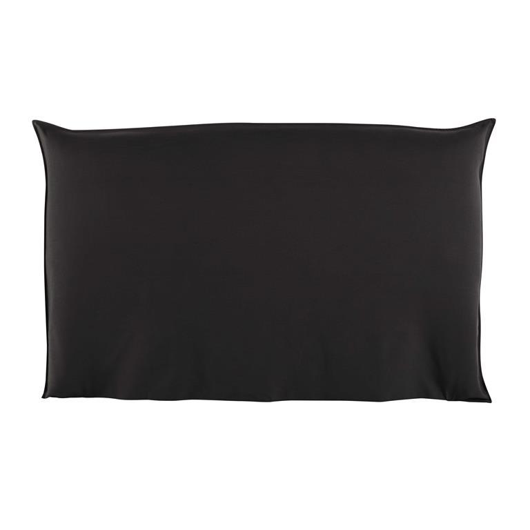 housse de t te de lit 180 anthracite soft maisons du monde. Black Bedroom Furniture Sets. Home Design Ideas