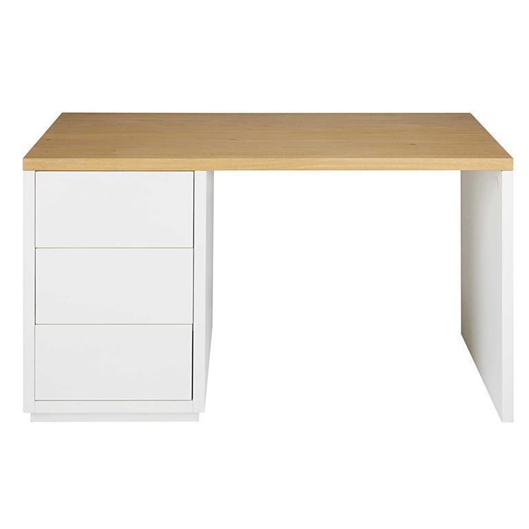 Bureau blanc 3 tiroirs Austral