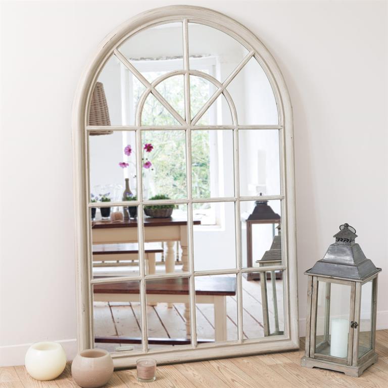 miroir beige h 150 cm serrant maisons du monde ref 122498. Black Bedroom Furniture Sets. Home Design Ideas