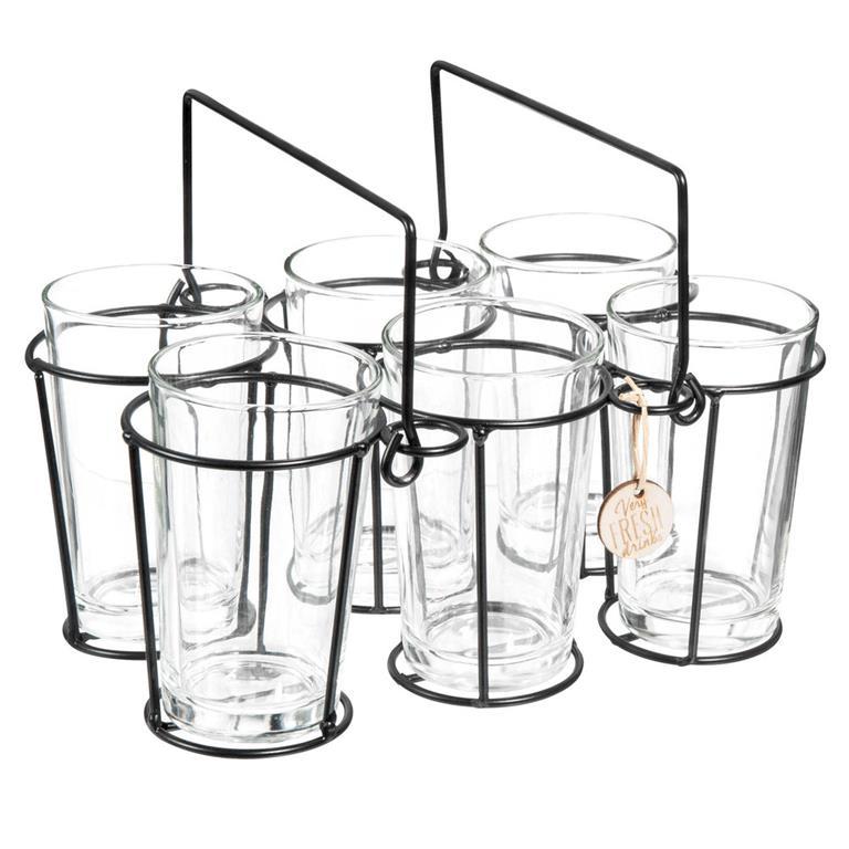 Rack 6 gobelets en verre