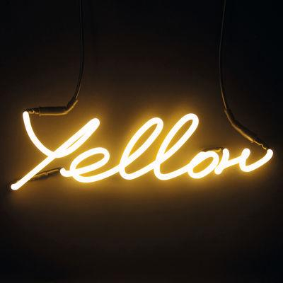 Applique Neon Shades Yellow - Seletti Jaune en Verre