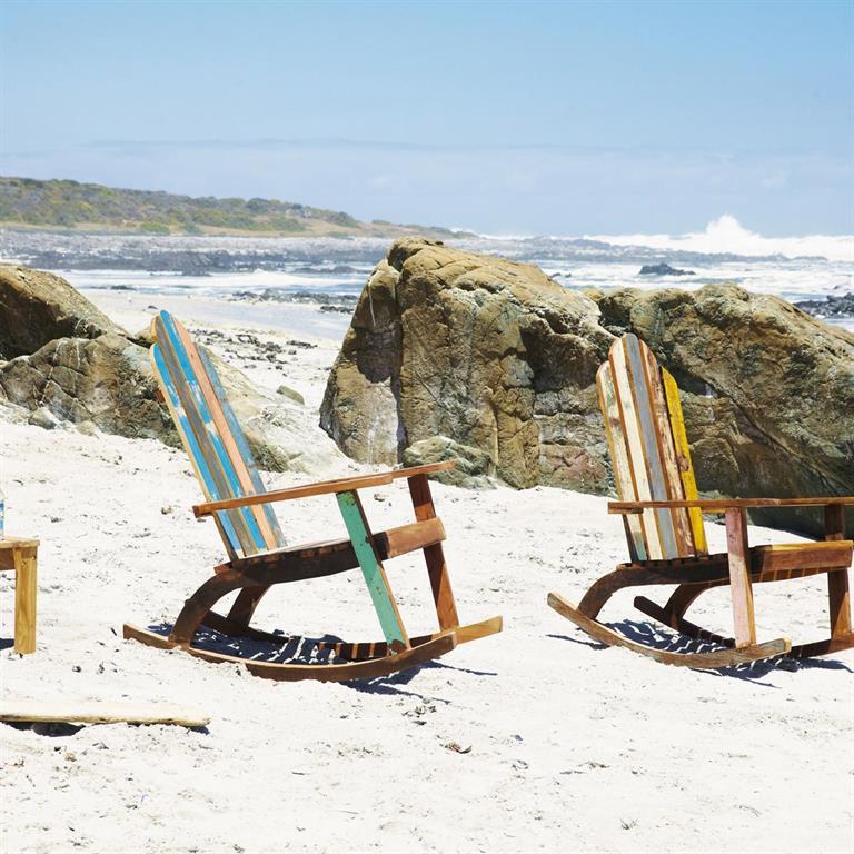 fauteuil bascule en bois recycl calanque