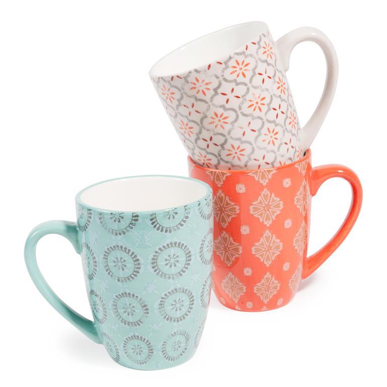 6 mugs en faence madalena