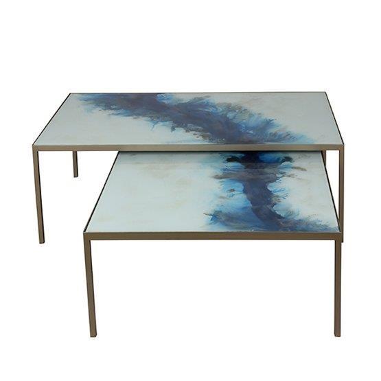 2 Tables basses Blue Mist Organic - Notre Monde