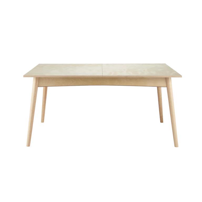 Table de salle à manger à rallonges en bois L 160 cm Dekale