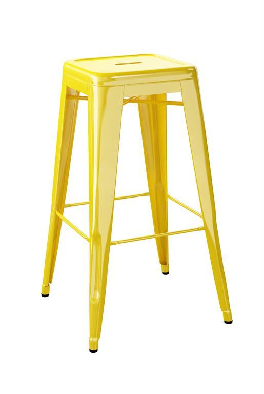 Tabouret H75 jaune citron