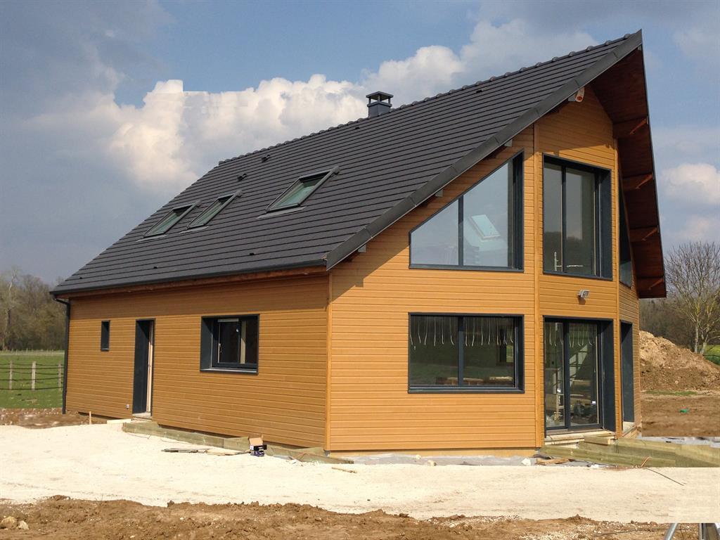 Une maison ossature bois - Maisons modernes en bois ...