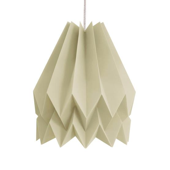 Abat-jour taupe en papier - Orikomi