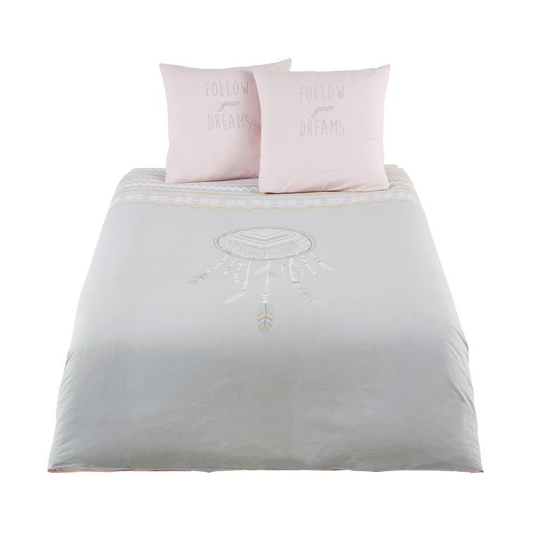 Parure de lit enfant en coton gris 240x220 Maisons du monde