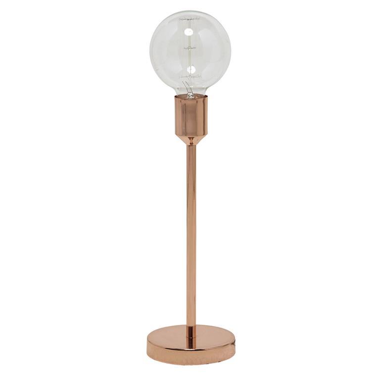 Lampe en métal cuivré H 41 cm IDEA COPPER