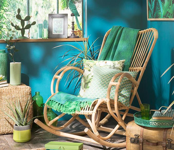 Image Décoration exotique avec meubles en rotin