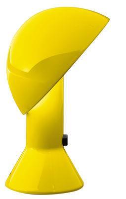 Lampe de table Elmetto / 1976 - Martinelli Luce jaune en matière plastique
