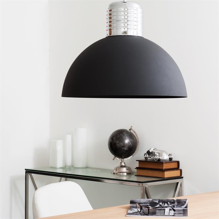 Lampe de table Tripoli, abat jour en lin blanc, bois foncé