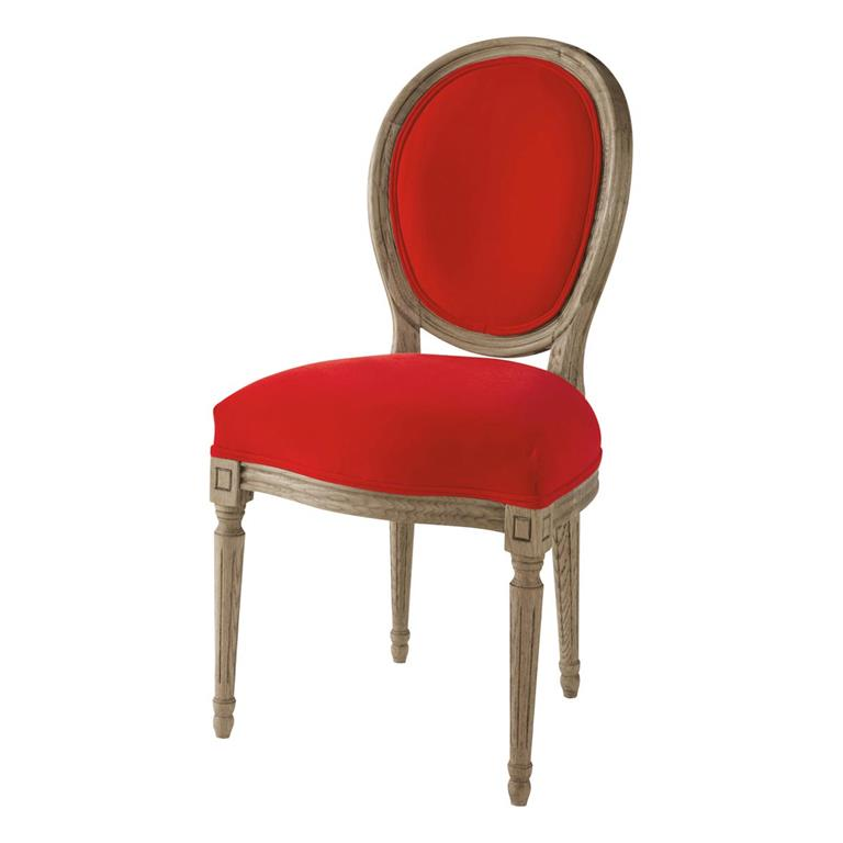 Salle manger chaises - Chaise medaillon velours ...