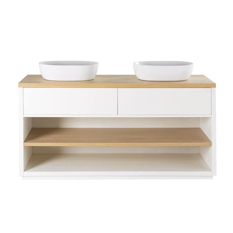 Meuble double vasque 2 tiroirs blanc Austral Maisons du monde