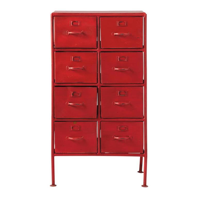 cabinet de rangement indus en m tal rouge l 52 cm cranberry. Black Bedroom Furniture Sets. Home Design Ideas