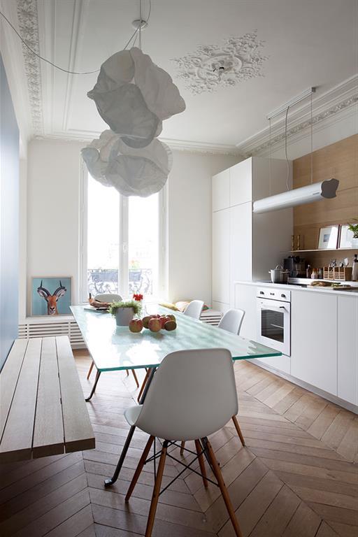 Bien connu Cuisine d'un appartement Haussmannien à Paris desiron lizen PB52