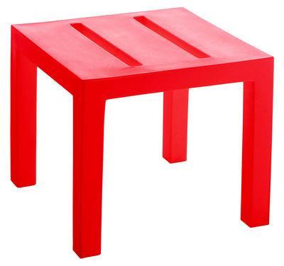 Table basse Handy / Version mate - Serralunga Rouge mat en Matière plastique