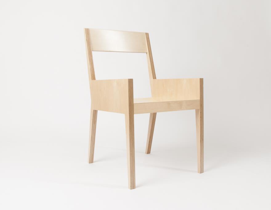 Chaise en multiplis de bouleau