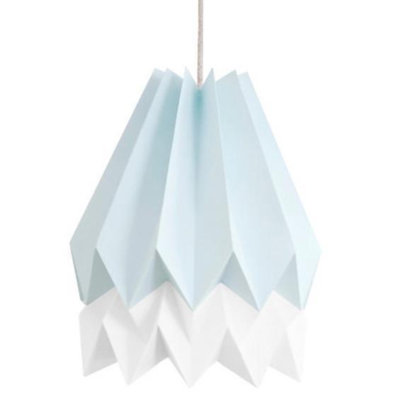 Abat-jour bleu et blanc en papier - Orikomi