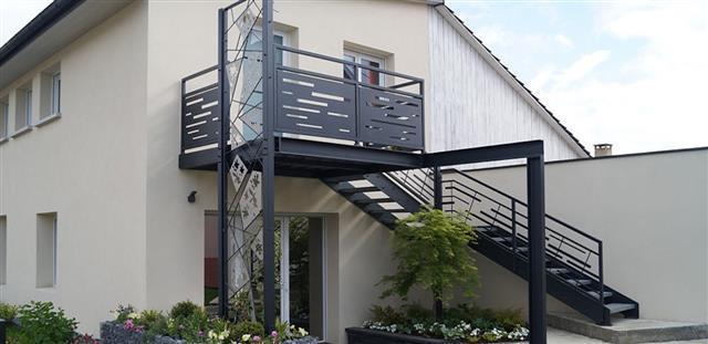 Escalier dextérieur en acier DS Design photo n°78