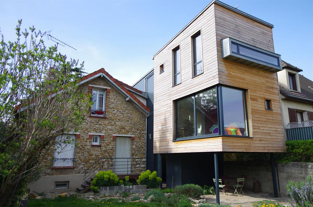 Sur l vation extension draveil for Extension maison bois etage