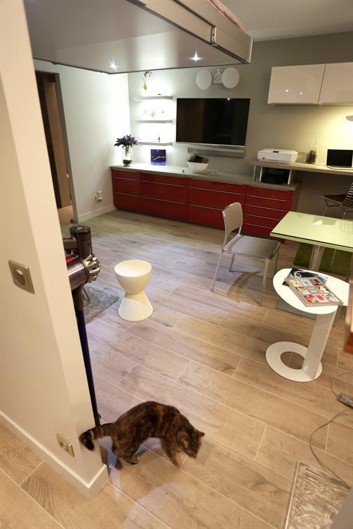 installation dun lit escamotable chez un client espace loggia. Black Bedroom Furniture Sets. Home Design Ideas