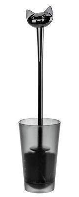 Brosse WC Miaou - Koziol noir en matière plastique