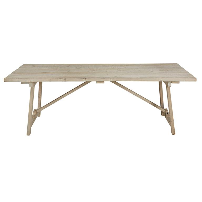 Table manger en pin blanchi 8 personnes l240 arezzo - Table a manger 8 personnes ...