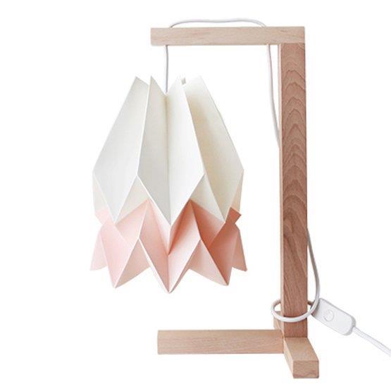 Lampe à poser blanche et rose pastel - Orikomi