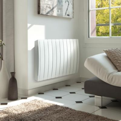 radiateur fluide ta ga lcd blanc acova camif ref. Black Bedroom Furniture Sets. Home Design Ideas
