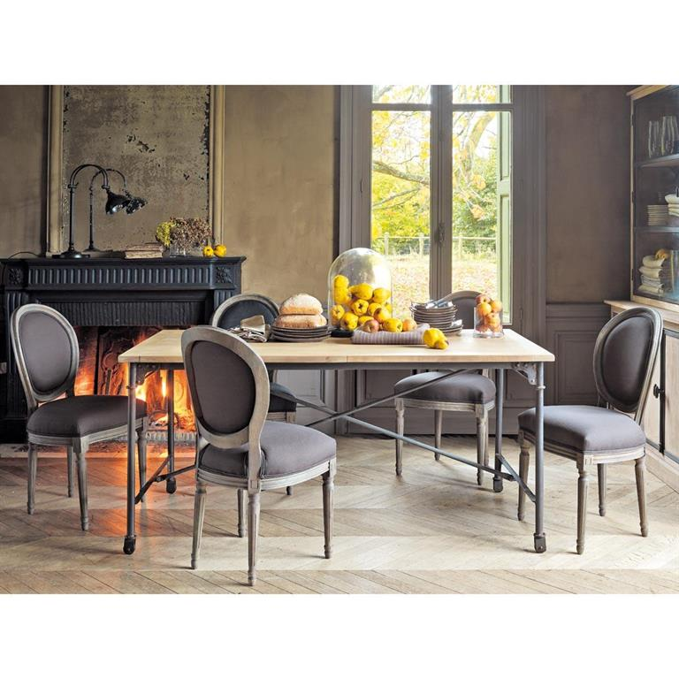 stunning table manger en manguier massif et mtal l archibald with table a manger maison du monde. Black Bedroom Furniture Sets. Home Design Ideas