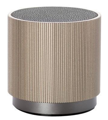 Enceinte Bluetooth Fine Speaker / Sans fil - Rechargeable - Lexon beige
