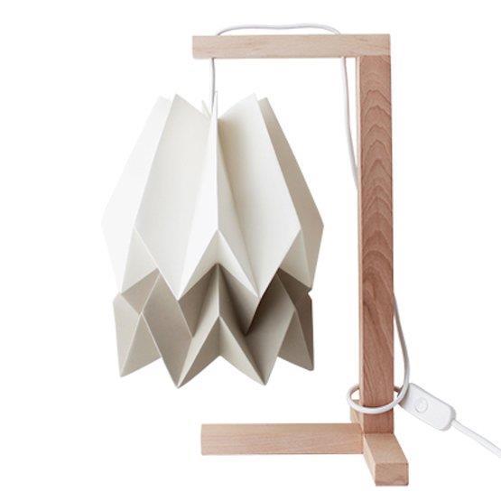 Lampe à poser blanche et taupe - Orikomi