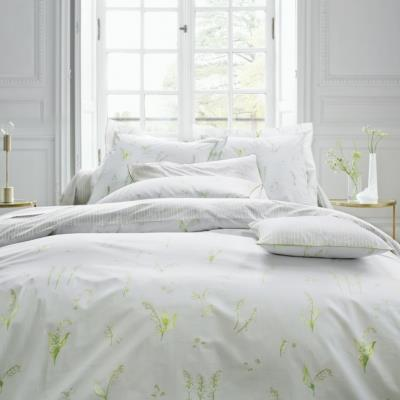 parure de lit percale lily blanc des vosges camif ref. Black Bedroom Furniture Sets. Home Design Ideas