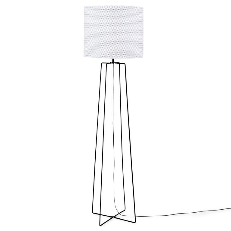 Lampadaire en métal H 162 cm CROSSY