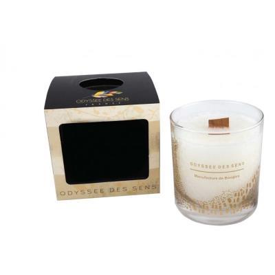 bougie parfum e m che bois 300g caramel beurre sal. Black Bedroom Furniture Sets. Home Design Ideas