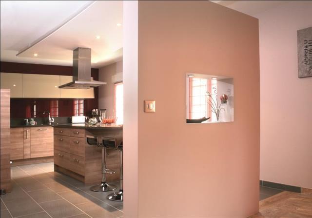 cuisine isol e par une cloison mi hauteur conceptuance. Black Bedroom Furniture Sets. Home Design Ideas