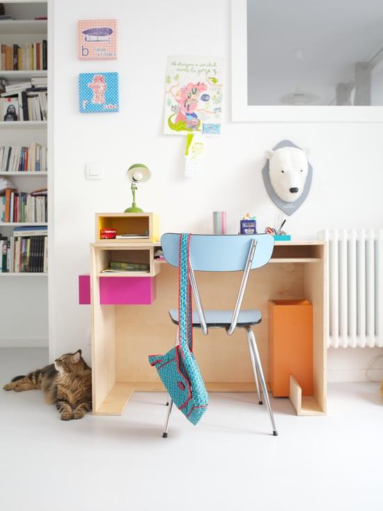 coin bureau enfant 10 astuces d co et rangement par emmanuelle lartilleux. Black Bedroom Furniture Sets. Home Design Ideas