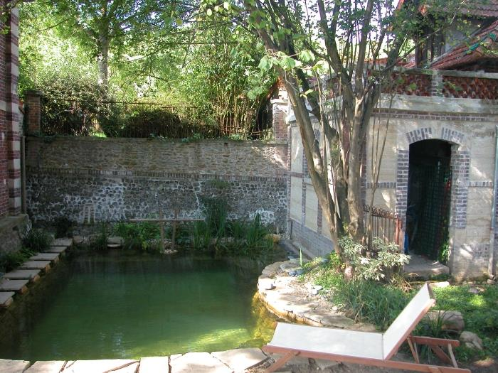 Maison avec piscine naturelle par emmanuelle lartilleux - Mini piscine naturelle ...