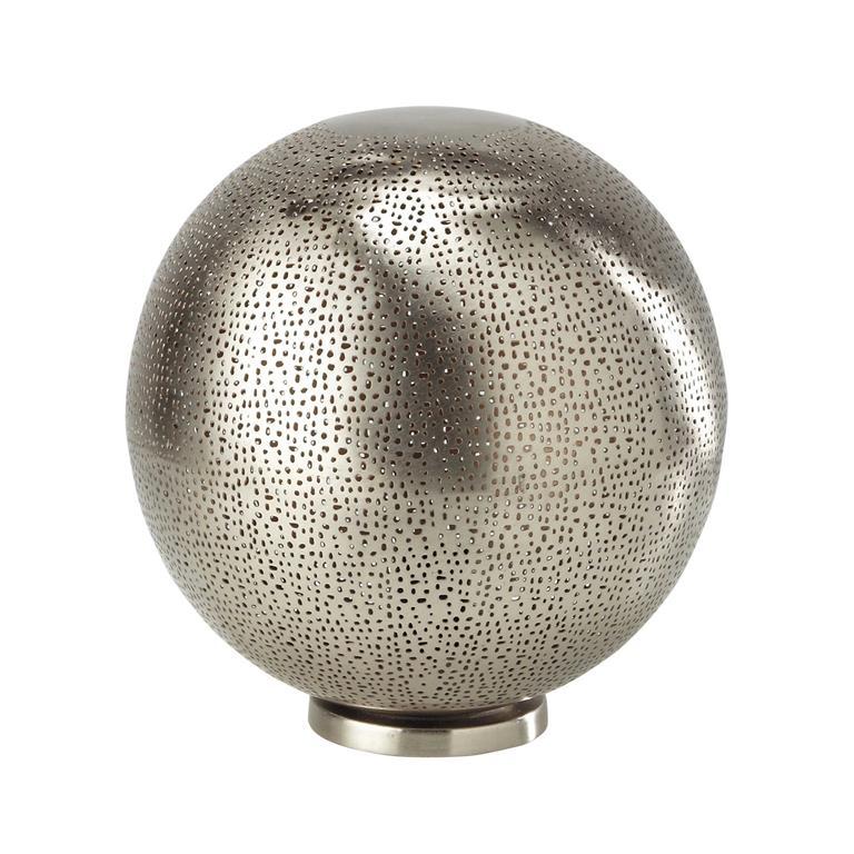 Lampe boule ajourée en métal H 31 cm RABAT